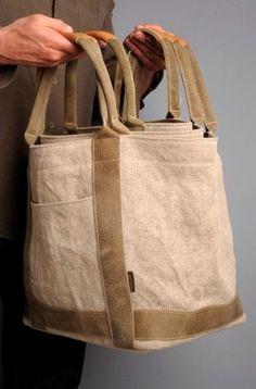 Fabric Purses, Fabric Bags, Diy Sac, Diy Purse, Craft Bags, Jute Bags, Linen Bag, Cotton Bag, Handmade Bags