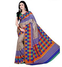 Miraan Art Silk Printed Saree VI1181A