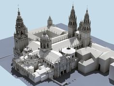 Cathedral of Santiago Religious Architecture, Ancient Architecture, Orbis, Fantasy Map, Old Buildings, Archaeology, Medieval, Empire, Lego