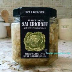 Trader Joe's Raw Sauerkraut with Persian Cucumbers 18oz $3.99 トレーダージョーズ ザワークラウト | #Trader Joes  #Sauerkraut