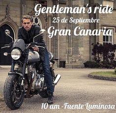 Me alegro mucho de que llegue el @gentlemansride  A #GranCanaria  paseito en moto con las mejores galas el 25 de septiembre. Que rule!  : @geot74 #CafeRacer #LifeStyle #GranCanaria #beFunWear