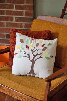 DIY Fall Themed Pillow
