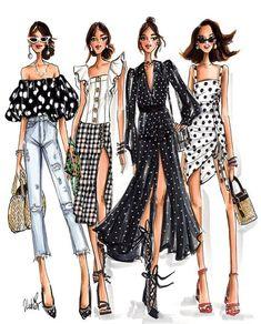 Fashion art illustration models Ideas for 2019 Fashion Design Sketchbook, Fashion Design Drawings, Fashion Sketches, Fashion Painting, Fashion Art, Fashion Models, Girl Fashion, Trendy Fashion, Fashion Drawing Dresses