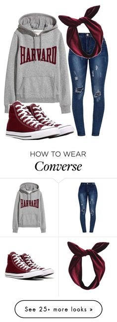 """#ootd "" by sydthekyd01 on Polyvore featuring Converse and Lulu in the Sky"