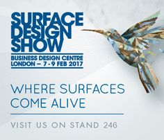 Visit us on stand 246! Surface Design Show 2017