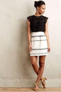 Goldfleck Mini Skirt - anthropologie.com