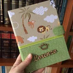 Altered Composition Notebooks, Baby Kit, Baby Shower Diapers, Scrapbook Albums, Mini Albums, Safari, Lunch Box, Projects To Try, Wraps