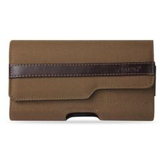 Reiko Horizonta Rugged Pouch Iphone6 4.7Inch Plus-Brown With Z Lid Pattern Inner Size: 5.84X3.04X0.67Inch