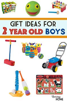 A great collection of gift ideas for two year old boys. Pinning this for future birthday gift or Christmas gift ideas.!