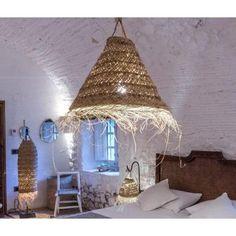 suspension en fibres de palmier Deco Luminaire, Kitchen Chandelier, Home Salon, Style Deco, Magic Circle, Boho Diy, Fibres, Decoration, Lamp Light