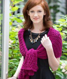 knitting: 10 1/2 needles, apprx 500 yards 4oz yarn - 8-Hour Shawl