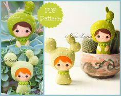 PDF Pattern. Cactus girls. by Noialand on Etsy
