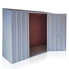 OTW-Shed Skillion Roof 2.25m x 0.75m Sgl Door Zinc without Back Wall | Cheap Sheds