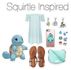 """""""Squirtle Inspired❤️"""" by jazzrodgers ❤ liked on Polyvore featuring Topshop, Aéropostale, Kate Spade, Casetify, sun, moon, Pokemon, squirtle and starter"""