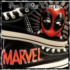 Deadpool 1 Custom Converse Sneakers, $369.00