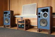 4341 studio monitors and MacIntosh vintage audio speakers