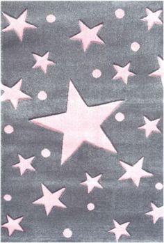 #Mädchen #Teppich, #STARS #silbergrau/rosa   #140 #x #140 Wo man auch hinsieht, Sterne sind einfach nicht mehr wegzudenken. Die modernen Farben und die zauberhafte Kombination aus verschieden großen Sternen und den kleinen Punkten holen den Sternenhimmel direkt zu Ihnen nach Hause. Bei der Teppichserie HAPPY RUGS von Livone Teppiche wurde bewusst auf die Bedürfnisse im Kinderzimmer geachtet. Sie zeichnen sich besonders aus durch ihre kuschelige und pflegeleichte Qualität, aber auch durch…