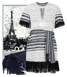 """Woven Fringe Dress"" by ritadolce ❤ liked on Polyvore featuring 10 Crosby Derek Lam, Chloé and Acne Studios"