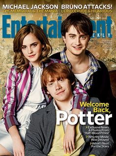 Emma Watson, Daniel Radcliffe and Rupert Grint grace the cover!