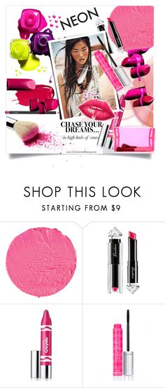 """Neon Pink Beauty"" by clotheshawg ❤ liked on Polyvore featuring beauty, Givenchy, Guerlain, JEM, Clinique, Victoria's Secret and Forever 21"