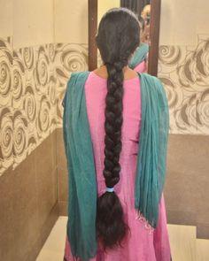 Thick Braid, Playing With Hair, Super Long Hair, Braids For Long Hair, Beautiful Long Hair, Indian Fashion, Braided Hairstyles, Hair Inspiration, Dreadlocks