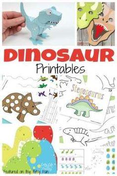 A Ton of Free Dinosaur Printables for Kids - Itsy Bitsy Fun Dinosaurs Preschool, Dinosaur Activities, Toddler Activities, Preschool Activities, Dinosaur Crafts Kids, Dinosaur Projects, Vocabulary Activities, Festa Jurassic Park, Dinosaur Printables