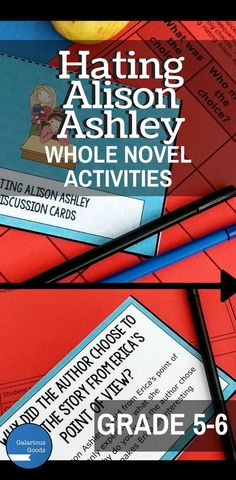 Take your students on an in-depth and comprehensive look at Hating Alison Ashley by Robin Klein with this whole-novel resource. Engage in a complete novel study with discussion questions and creative activities. Teacher Resources, Classroom Resources, Classroom Ideas, Language Study, Language Arts, Maths Investigations, Teaching Strategies, Teaching Ideas, Australian Authors