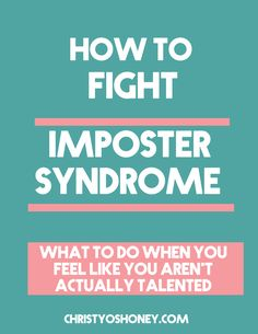 Do you ever feel like you are a fraud? Do you ever feel like people are about to find out that you don't actually deserve to be doing what you are doing? That's called Imposter Syndrome. It's a real thing. And in this post, I'm going to show you ways to combat the lies your Imposter Syndrome tells you so that you can make something that matters. Click through to fight your fear!