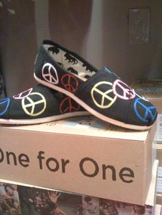 Peace Sign Custom Toms Shoes by jcgray1 on Etsy, $86.00