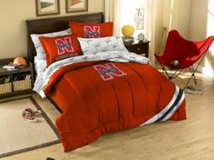 NCAA Nebraska Cornhuskers Bedding Set by Northwest. $86.99. Polyester/Cotton blend. Unisex Adults. Please Check Item Specifics. Twin has 1 sham and 1 pillowcase/Full has 2 shams and 2 pillowcases (not pictured). Officially Licensed Nebraska Cornhuskers Bed in a Bag Bedding Set. 1COL/88100/4006/BBB Size: Full Features: -Material: Polyester / cotton blend.-Make your room announce your love for America's favorite pastime sport. Includes: -Twin size set includes sham, pi...