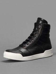 Balmain high top sneakers.