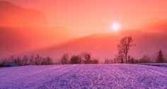 un couché de soleil !!! #soleil #paysage #violet