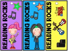 Rockstar Bookmarks FREEBIE Print out these bookmarks and use a hole punch to make the hole. Add your own ribbon or yarn. You can print on card stock and laminate for sturdiness. Follow me on TPT for more fun and exciting products and FREEBIES!