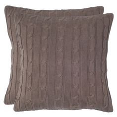 I pinned this Allie Cable Knit Pillow in Mocha from the Trendspotting: Cable Knit event at Joss and Main!