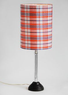Plain Tartan Lampshade red/white/blue by NOUSH on Etsy: $45,-
