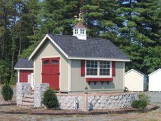 "Select Carlisle 24"" Windowed Cupola makes this shed look superb!"