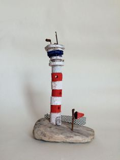 Airport control tower hand made in West-Cork, Ireland from driftwood. Airport Control Tower, West Cork, Cork Ireland, Driftwood, Buildings, Projects, How To Make, Handmade, Log Projects