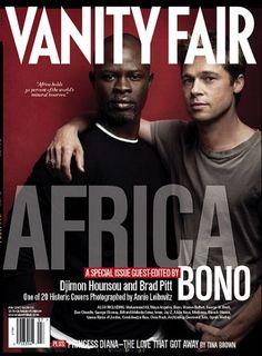 Actor Djimon Hounsou & Brad Pitt - Vanity Fair