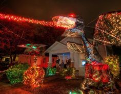 Christmas Lights on 37th Street in Austin- Definitely a must see street during December!