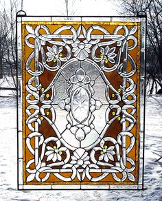 The Annabelle Dusk Beveled and Stained Glass Window