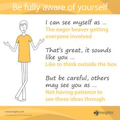 Be fully aware of yourself - Insights Discovery Sunshine Yellow Colour Energy