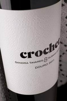 Crochet Wine via @Matty Chuah Dieline