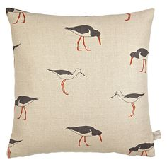 Buy Emily Bond Oyster Catcher Cushion, Multi Online at johnlewis.com