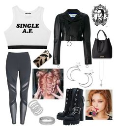 """""""Untitled #75"""" by mikaelabeck on Polyvore featuring Off-White, Alo, Lime Crime, Ana Accessories, Alexander McQueen, Casetify, Sydney Evan and Cole Haan"""
