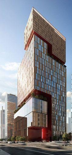 Dougong Tower Beijing designedby Woods Bagot Architects :: 42 floors: