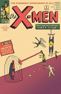 Reinterpretation of Sol Brodsky's 1963 xmen cover by Dan Scanlon Marvel Comic Books, Comic Books Art, Comic Art, Book Art, Xmen, Cartoon Movie Characters, Thing 1, Book Writer, Jack Kirby