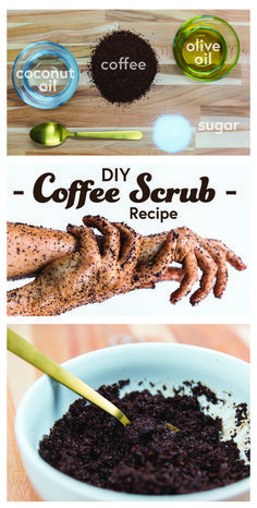 Scrub that dead skin away with this AWESOME coffee and sugar scrub. A super simple recipe for DIY coffee scrub. It will make your legs moisturized and glory this summer. This scrub is perfect for DIY skincare and preparing skin for a spray tan!