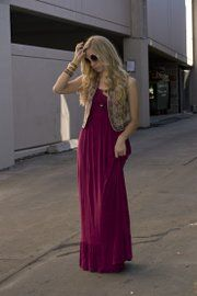 Boho basics | Fashion Column Twins (Maxi dress, vest and accessories from Earthbound Trading Co.)
