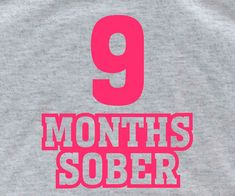 9 MONTHS SOBER Mommy gift Mothers Day Gift new baby by lptshirt, $14.95