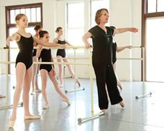 Boost your curriculum to prepare dancers for pointe work. Wearing ballet slippers with satin ribbons attached, young girls practice relevé facing the barre, while Martha Goodman of Atlanta Ballet's Centre for Dance Education makes adjustments. She ... Continue reading →